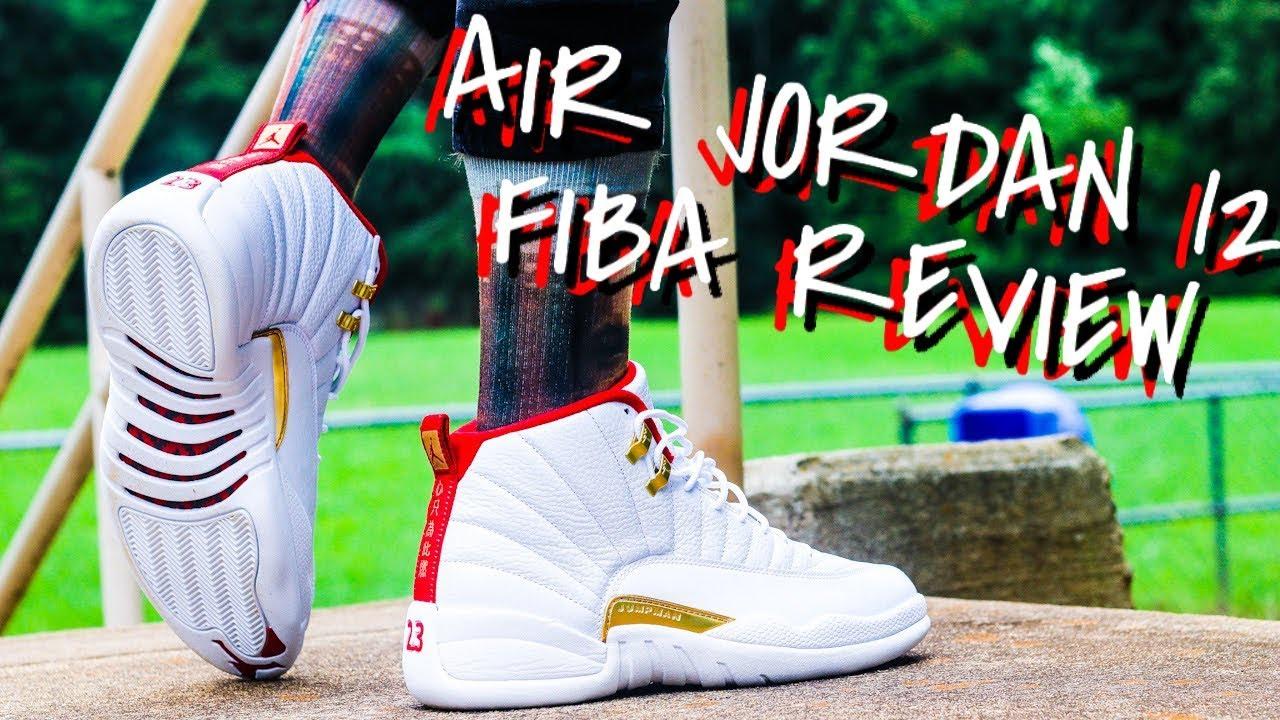AIR JORDAN 12 FIBA REVIEW \u0026 ON CLEAN