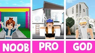 Roblox NOOB vs PRO vs GOD BUILDER in BLOXBURG