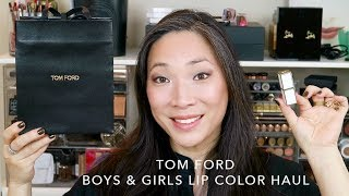 TOM FORD Boys & Girls Lip Color Haul w/ Lip Swatches!