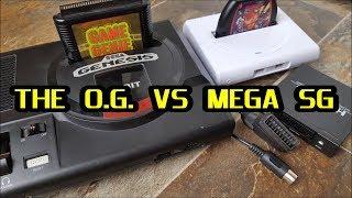 SEGA: Analogue Mega Sg vs SEGA Genesis Model 1  : using $35 Scart to HDMI convertor