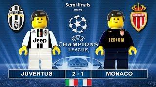 Juventus vs Monaco 2-1 • Semi-finals Champions League 2017 • Highlights Lego Football (09/05/2017)