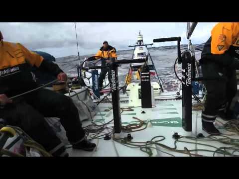 Avarie de gréement sur Team Sanya - Etape 2, jour 8 - Volvo Ocean Race 2011-12