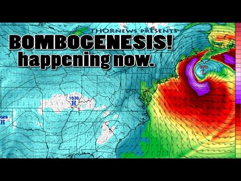Bombogenesis happening NOW! Winter Storm Orson & the East Coast