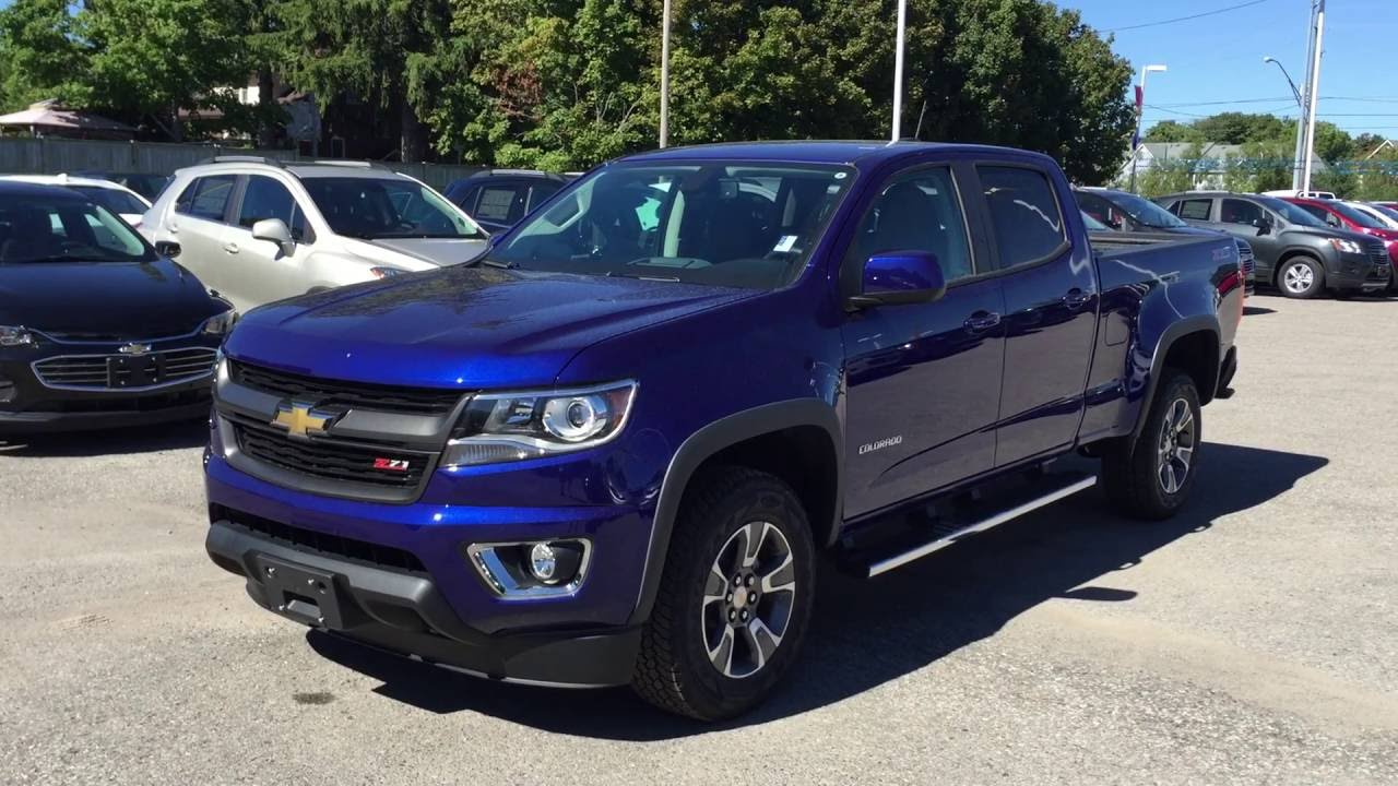 2016 Chevrolet Colorado 4WD Crew Cab Z71 Laser Blue Roy Nichols Motors Courtice ON - YouTube