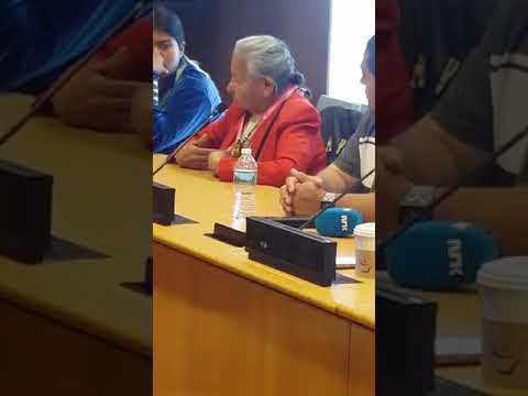 INTI pannel at the UNDRIP, indigenous people talking about Standing Rock.