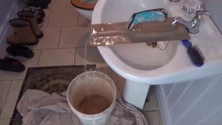 Plastering tip to fill water bucket with no outside taps