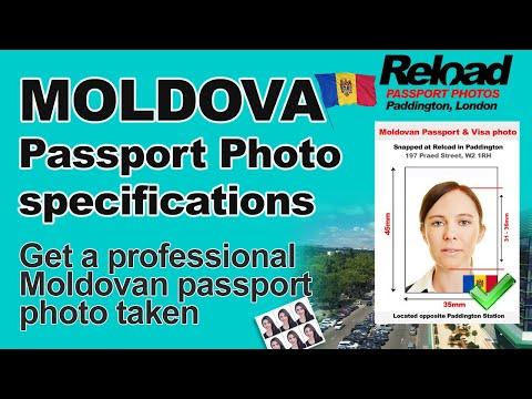 Moldovan Passport Photo and Visa Photo snapped in Paddington, London