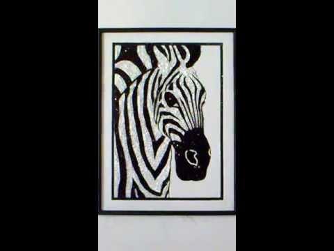 Cuadro anylu cebra fondo blanco youtube - Cuadros de cebras ...
