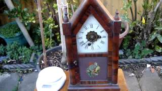 Old Vintage Antique Little American Alarm Strikes Mantle / Mantel Clock  Repair