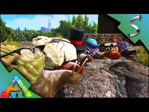 ACHATINA CEMENTING PASTE FARM! 180 SNAIL TAME! SNAILS WITH HATS! - Ark: Survival Evolved [S3E41]
