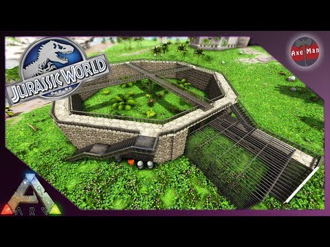 JURASSIC WORLD RAPTOR ENCLOSURE | ARK SURVIVAL EVOLVED [JURASSIC PARK MOD EP32]