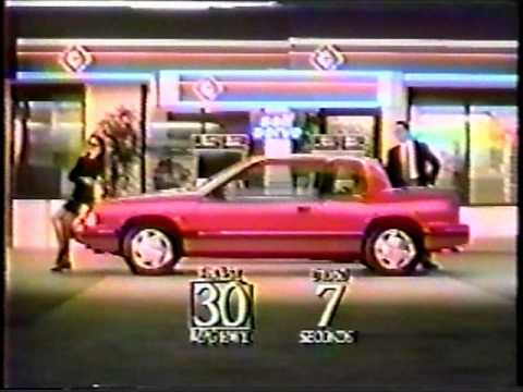 1991 Oldsmobile Cutlass Calais Quad 442 TV Commercial