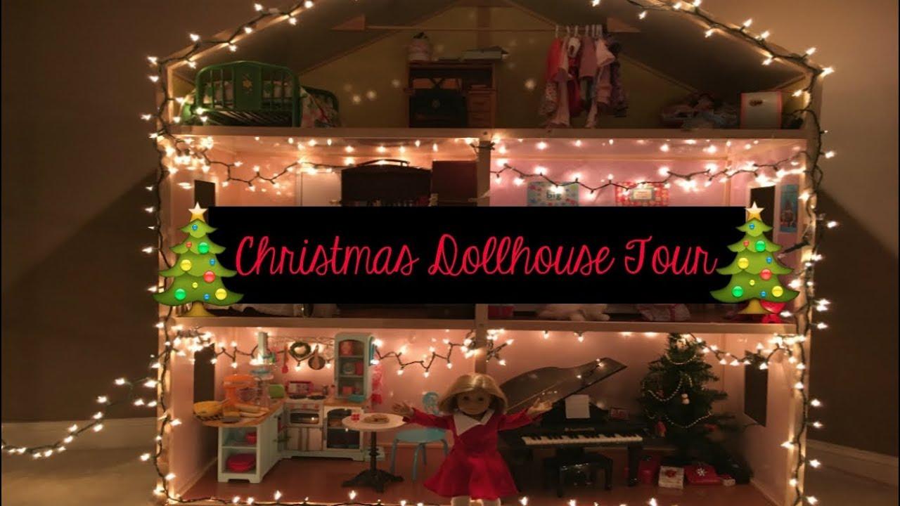 huge american girl dollhouse tour - Dollhouse Christmas Lights
