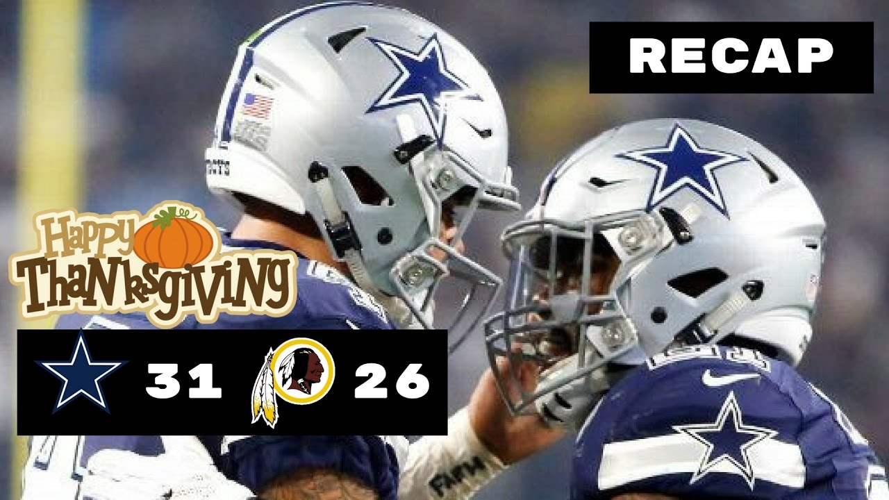 14a807f02e5 Dallas Cowboys vs Washington Redskins NFL Week 12 Recap ...