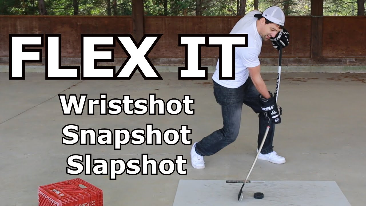Flexing the stick - Wristshot, Slapshot and Snapshot - Complete Shot video 5