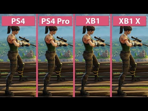 [4K] Fortnite Battle Royale – PS4 PS4 Pro Xbox One Xbox One X Frame Rate Test & Graphics Comparison