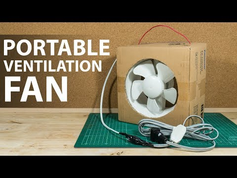 Diy Portable Ventilation Fan From Its Box Youtube