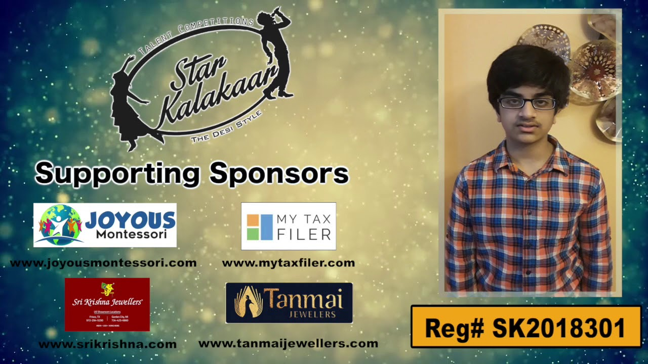 Participant Reg# SK2018-301 Introduction - US Star Kalakaar 2018 || DesiplazaTV