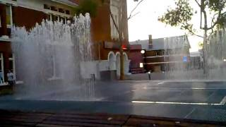 Library fountains and the Swan River.mp4