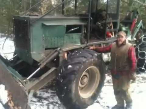 Homemade Log Skidder For Use In Forestry Youtube