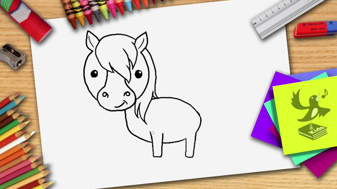 Kleurplaten Paard En Koets.Hoe Teken Je Een Paard Zelf Een Paard Leren Tekenen Youtube