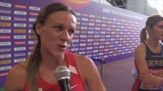 Simona Vrzalová po rozběhu na 1500 metrů na MS v Londýně