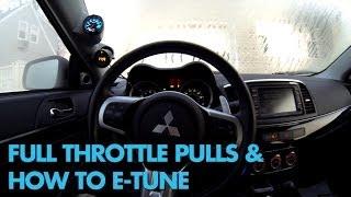 vlog 8 driving the evo x mr full throttle pulls how to e tune