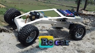 How To Make A Battery Powered Rc Car At Home|With steering|With WireMold|