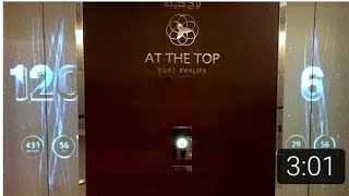 Burj khalifa Elevator,  Dubai l 0 to 124th Floor within 1 min