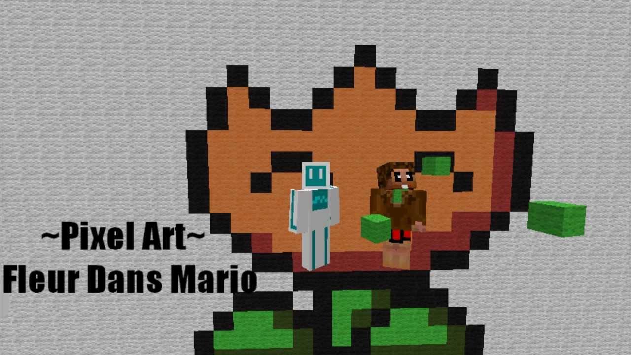 Pixel Art Fleur Dans Mario Youtube