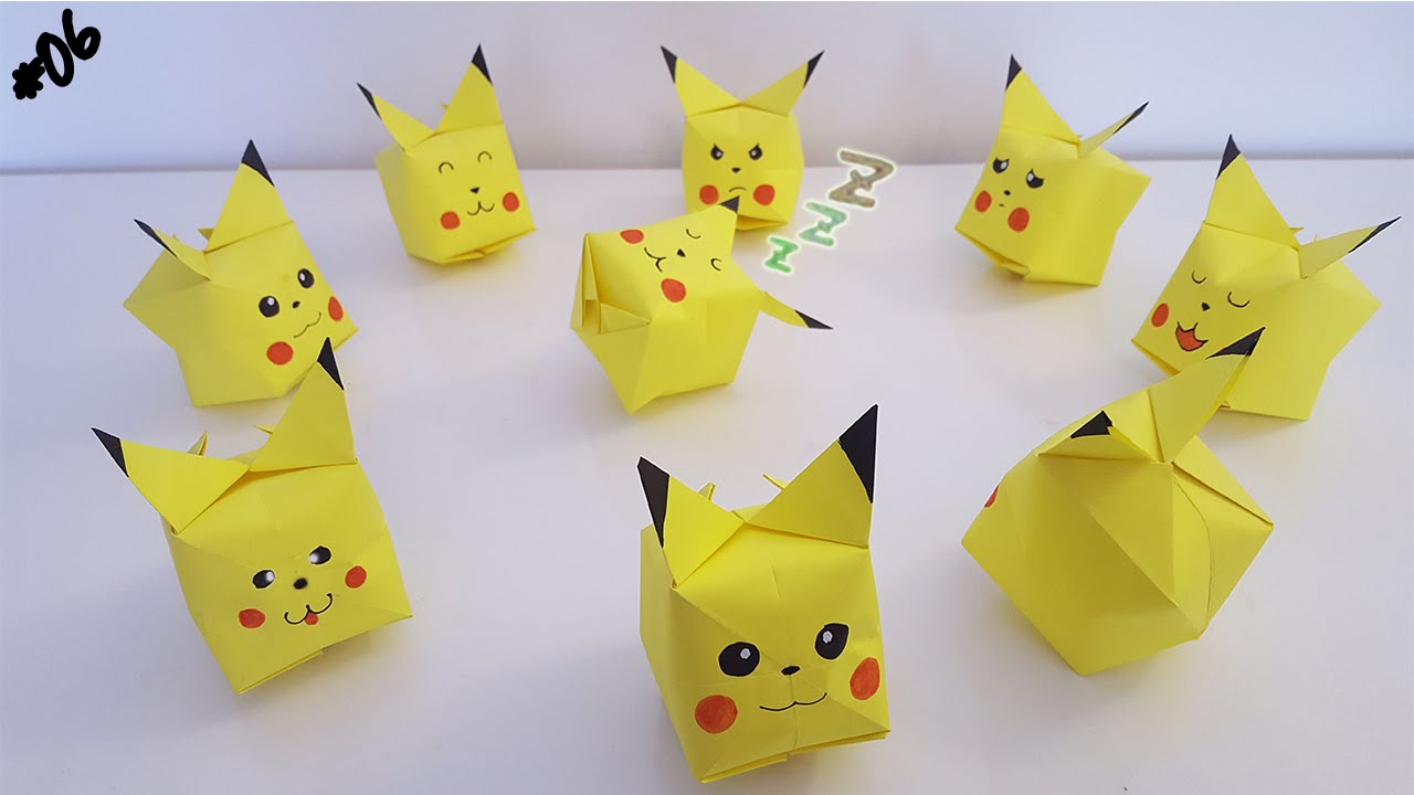 origami facile pokemon
