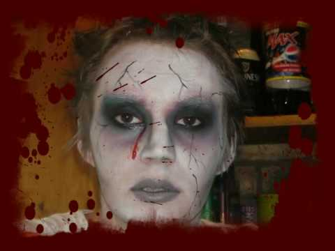 Hot Zombie Makeup Tutorial - YouTube