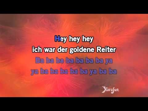 Karaoke Der Goldener Reiter - Joachim Witt *