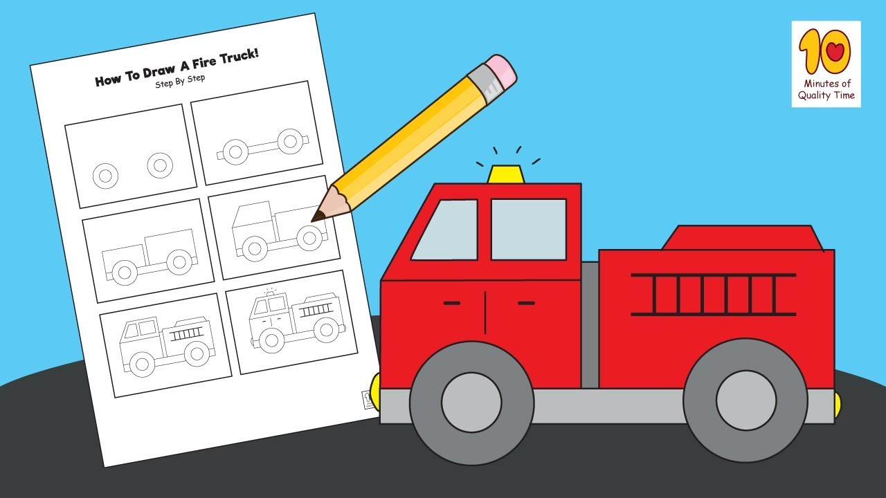It's just a graphic of Inventive Fire Engine Drawing