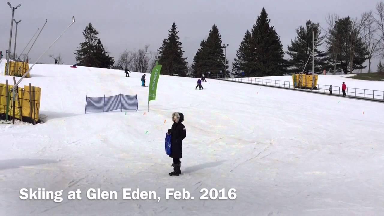 ski @ glen eden, feb 2016 - youtube