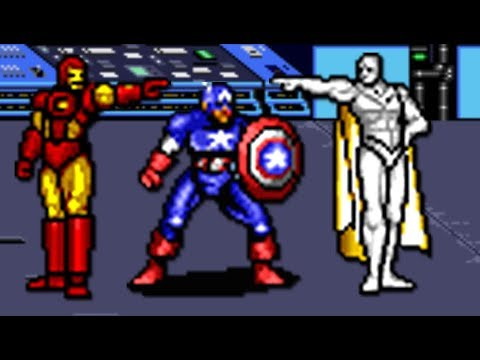 Captain America & Avengers (Genesis) All Bosses (No Damage)