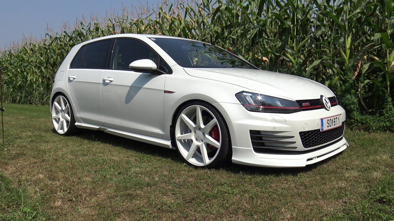 volkswagen golf 7 gti performance abt 20 vossen vvs cv7 4k youtube. Black Bedroom Furniture Sets. Home Design Ideas