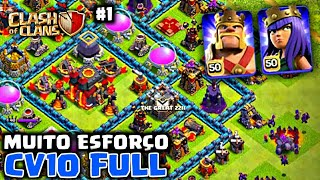 O CV10 MAS BEM UPANDO DO CLASH OF CLANS?? [A SAGA DO CV10 FULL #1] - Clash of Clans 2018