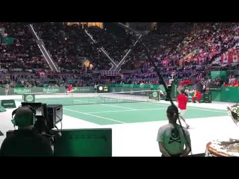 Enorme Roberto Bautista Final Copa Davis Madrid