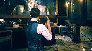 Resident Evil 2 Remake   Leon Noir Gameplay Demo (dlc Costume) Zombie Game 2019