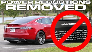 Tesla Power Reductions Removed in Performance Models with Latest Software Update