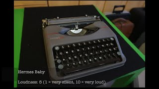19 different typewriters - sound comparison