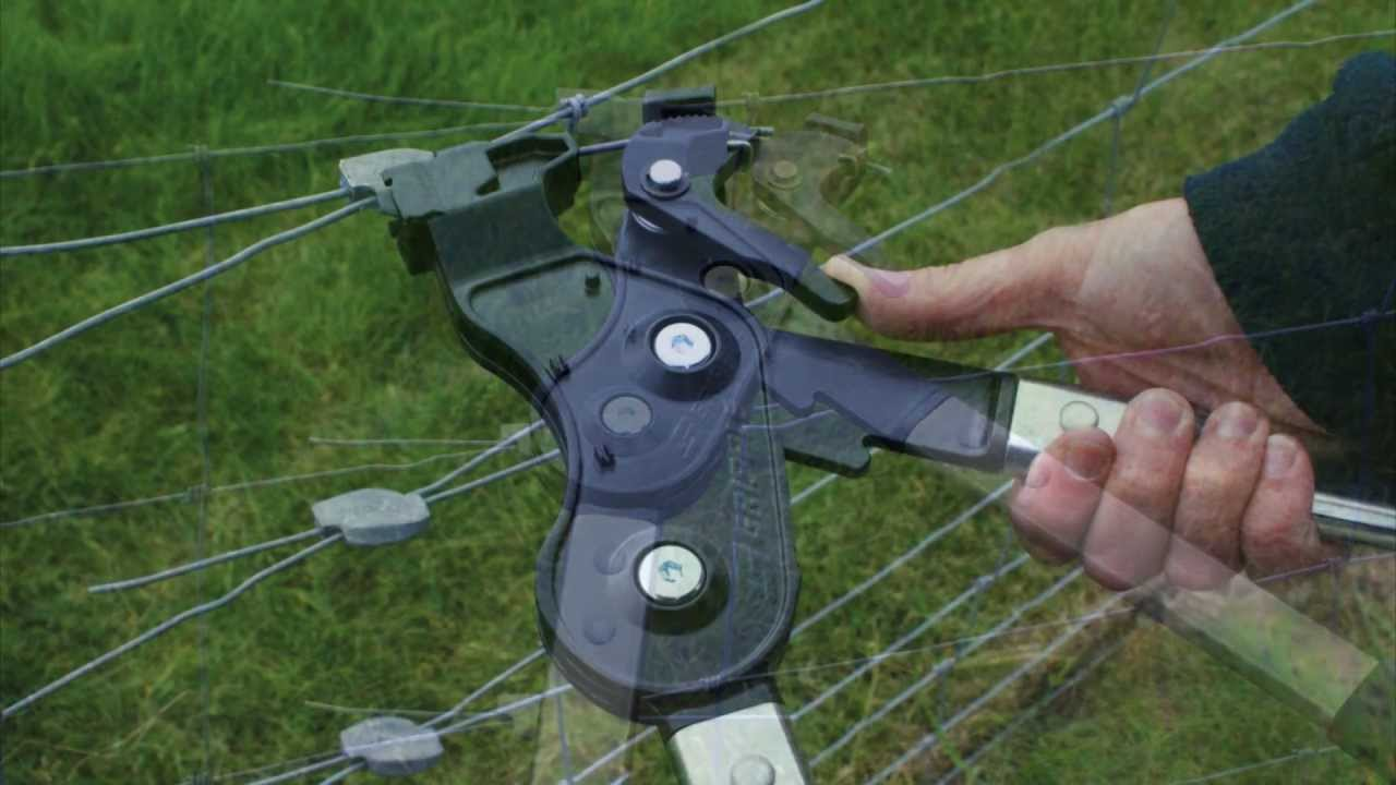 Tensioning Wire Fences - Contractor Tool - YouTube