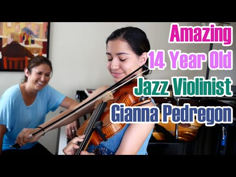 Amazing 14 Year Old Jazz Violinist, Gianna Pedregon