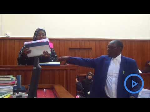 Likoni MP Mishi Mboko testifies in a petition case challenging her election