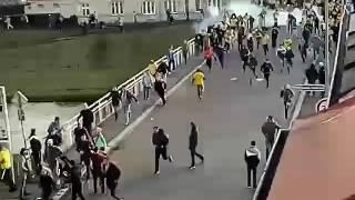 Střet fanoušků Opavy a Ostravy 18.3.2017