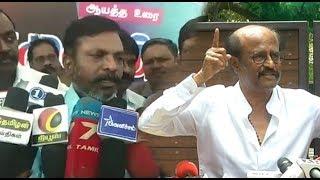 VCK Chief Thirumavalavan comment on Superstar Rajinikanth's Speech  ON BJP |STV