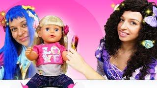 Салон Красоты для куклы Беби Бон и Принцесс Диснея! - Весёлые игры одевалки. Видео с куклами