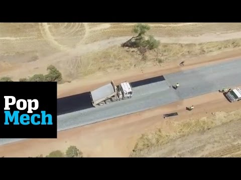 We Can't Stop Watching This Video of a Road Being Paved | PopMech