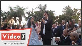 بالفيديو.. يحيى الفخرانى يشهد على عقد قران هبة مجدى ومحمد محسن
